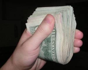 wad of money