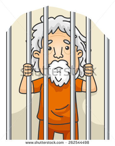stock-vector-illustration-of-a-senior-citizen-still-serving-his-sentence-in-jail-262544498